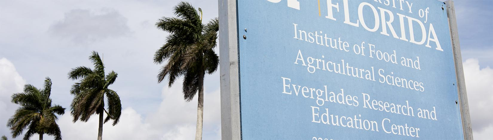 UF/IFAS Sign - Everglades Research And Education Center